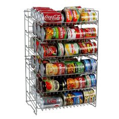 Atlantic Compact Double Can Rack Holder Organizer Home Kitchen Pantry Storage in Home & Garden, Kitchen, Dining & Bar, Kitchen Storage & Organization Can Storage, Space Saving Storage, Pantry Storage, Kitchen Storage, Food Storage, Storage Ideas, Storage Solutions, Pantry Shelving, Magnetic Storage