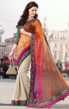 Magnetic Multicolor Saree
