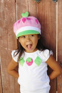 Strawberry shortcake hat, newsboy hat, newsboy cap for toddlers and kids - Made to order