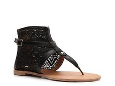Ohhh me like!  Qupid Athena-610 Flat Sandal Womens Sandals $39.95 & Under Womens Shoes - DSW