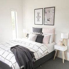 Trendy Bedroom Makeover Diy Tips Modern Minimalist Bedroom, Minimalist Home, Modern Bedroom, Trendy Bedroom, Cozy Bedroom, Diy Bedroom Decor, Home Decor, Bedroom Ideas, Bedroom Table