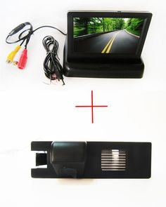 sony Car Rear View Camera for OPEL Astra H/Corsa D/Meriva A/Vectra C/Zafira B,FIAT Grande,with 4.3Inch foldable LCD TFT Monitor