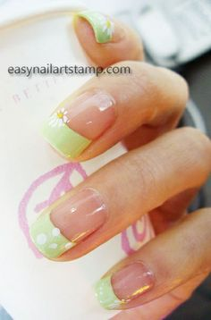Spring Nails | Coming Spring nail art design - ENAS Stamping Nail Art