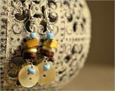 """Boucles d'oreilles en pierres naturelles """"Cairns"""" - Bijoux TessNess : Boucles d'oreille par tessness"""
