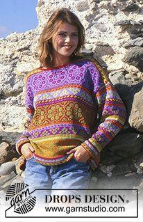 Free Knitting Patterns For Women, Fair Isle Knitting Patterns, Knitting Machine Patterns, Knit Patterns, Drops Patterns, Drops Design, Lace Knitting, Finger Knitting, Pull Jacquard