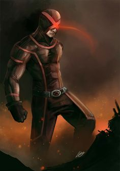 Cyclops the Terrible.  For those of you out of touch with modern comics and whose only point of reference is the 90's animated series, spoiler alert.      Okay, so Cyclops is now a bad guy and I couldn't be happier.  He's always been a little douchie, but now he's full on Mutants first, Magneto is right sorta bad.  Can't wait to watch him kill all humans :D
