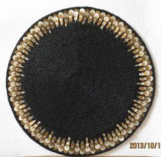 Handmade luxury bead coasters black doilies round table mat Kitchen accessories accesorios de cocina placemats for table m101687