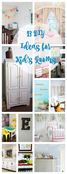 White Painted Armoire Makeover. 13 Ideas for Kid's Rooms