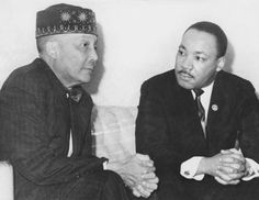 Meeting of the Honorable Elijah Muhammad and Martin Luther King in Elijah Muhammad, Muhammad Ali, Marcus Garvey, Malcolm X, Black Art, Evans, Black Authors, Famous Black, Islam Religion