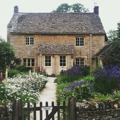 country cottage with English-style gardens.