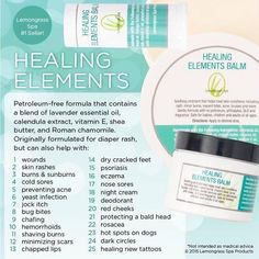 """I use healing elements for everything.   Www.OurLemongrassSpa.com/4211 check out my Facebook page for a giveaway and don't forget to like it """"Lemongrass Spa Products By Sasha Jurasek""""   Lemongrass Spa, healthy and fresh."""