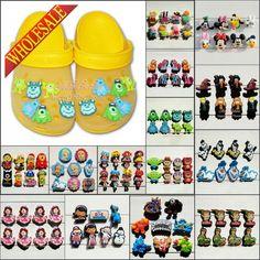 Hot 6-8PCS Minions Lalaloopsy Elsa Doc McStuffins PVC Shoe Charms,Shoe Buckles Accessories Fit Bands Bracelets Croc JIBZ,Gifts