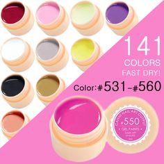CANNI 그림 젤 광택 141 순수한 색상 Gelpolish 자외선 블링 젤 매니큐어 (531 560)