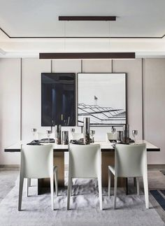 Dinner Room, Lunch Room, Dining Table Chairs, Dining Area, Dining Room Design, Kitchen Design, Chinese Interior, Dining Room Inspiration, Decor Interior Design