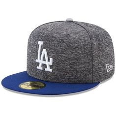 Los Angeles Dodgers New Era Shadow Tagged 59FIFTY Fitted Hat - Heathered  Gray Royal ee85153c18b