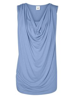 A great, versatile nursing, sleeveless cowl neck top from mamalicious maternity.  Perfect for pregnant and breastfeeding mums.
