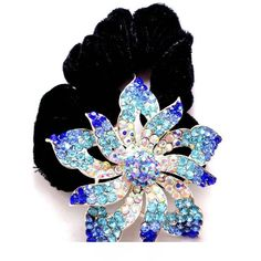 Fashion Alloy Hair Rope, Rhinestones Flannelette Head Flower * You can get additional details at the image link. #hairinspiration
