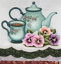 Zen, Fabric Painting, Art Pictures, Tea Pots, Clip Art, Tableware, Paintings, Graphics, Dish Towels