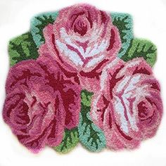 Ustide 3 Rose Shaped Rug Pink Roses Rug Handmade Rug Anti... https://www.amazon.com/dp/B00PU8OA76/ref=cm_sw_r_pi_dp_x_C-tiyb4MEZ3A0