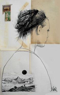 "Saatchi Online Artist Loui Jover; Drawing, ""black ribbon"" #art"
