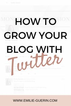 Twitter, grow your blog traffic, blog tips, social media, blogger tips, twitter tips