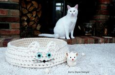 CATS CRADLE Crochet Pattern  Cat Bed Crochet by KerryJayneDesigns