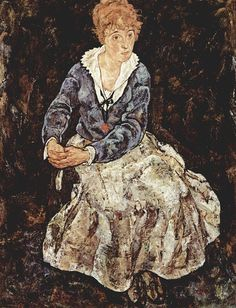 Schiele - Portrait of Edith Schiele, 1918