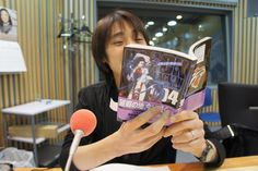 Reading Black Lagoon manga,on air.