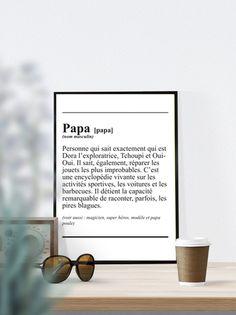Affiche Définiton ' #Papa ' - texte - à télécharger de RGB4YOU sur DaWanda.com