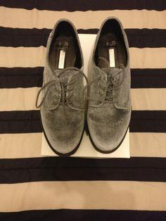 Primark Grey Velvet Shoes