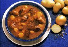 Burgonyás borjú Pot Roast, Curry, Ethnic Recipes, Food, Carne Asada, Roast Beef, Curries, Essen, Meals
