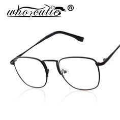 29f06bc4dcb WHO CUTIE Eye Glasses Frames for Women Men 2016 Metal Frame Rectangle Brand  New Optical Eyewear