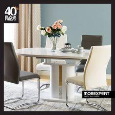 Un plus de eleganță pentru servirea mesei. #mobexpert #blackfriday #reduceri #mobilier Black Friday, Dining Table, Furniture, Home Decor, Decoration Home, Room Decor, Dinner Table, Home Furnishings, Dining Room Table
