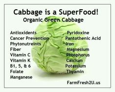 I have grown to love cabbage