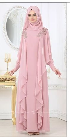 Renew your wardrobe with these, new abaya style which will enhance your personality. We have come with 50 different abaya style 2020 that will make you Hijab Gown, Hijab Dress Party, Abaya Fashion, Modest Fashion, Fashion Dresses, Fashion Muslimah, New Abaya Style, Moslem Fashion, Dress Pesta