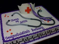 Graduation Cake- Nursing School | Graduation Cakes by Creative ...