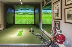$5 Million 12,000 Square Foot Brick Mansion In Northborough, MA | Golf Simulator Room