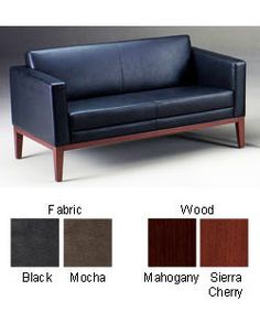 @Overstock - This classic black leather settee makes the perfect office statement for your clients. Made from top-grain Italian leather and available in solid hardwood mahogany or cherry finish, this well-made and stylish design adds vibrancy to any space.http://www.overstock.com/Office-Supplies/Mayline-Prestige-Leather-Settee/2602704/product.html?CID=214117 $759.99