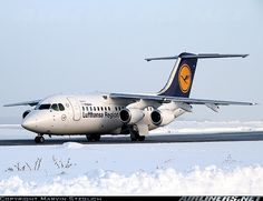 Lufthansa Regional British Aerospace Avro 146-RJ85 D-AVRA at Dresden-Klotzsche, December 2010. (Photo: Marvin Steglich)