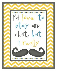 Sweet Coconut Lime: 10 Years & A Mustache Printable
