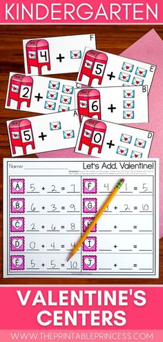 Spread some love with this math and literacy packet that includes 6 centers and 6 extra no-prep practice pages with a fun Valentine's Day theme - perfect for the month of February! Students will practice CVC, digraphs, making 10, adding and counting with these activities that are hands-on, interactive, engaging and perfect for Kindergarten! Subtraction Activities, Kindergarten Math Activities, Word Work Activities, Counting Activities, Letter Activities, Literacy, Great Valentines Day Ideas, Valentines Day Activities, First Grade Teachers