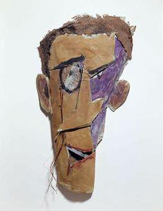 Tristan Tzara par Marcel Janco = TZARA figure essentielle du mvt DADA (suisse refugié de guerre) + ici Franco montre un art contre esthétique, fait penser aux production d'alliénés auquel DADA s'interesse