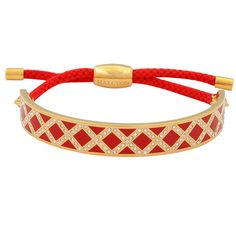 Halcyon Days Sparkle Diamond Red and Gold Friendship Bangle