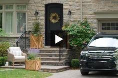 Learn how to add major curb appeal to your home's exterior without breaking the bank. Front Door Paint Colors, Painted Front Doors, Creative Ideas, Diy Ideas, Home Tv, Can Lights, House Exteriors, Fall Season, Backyard Ideas