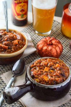 Spicy Pumpkin Sweet Potato Chili