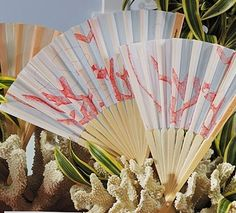 #Coral Fans for Beach Wedding Favors ... Wedding ideas for brides & bridesmaids, grooms & groomsmen, parents & planners ... https://itunes.apple.com/us/app/the-gold-wedding-planner/id498112599?ls=1=8 … plus how to organise an entire wedding, without overspending ♥ The Gold Wedding Planner iPhone App ♥