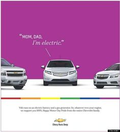 I love this ad by @Chevrolet for Gay Pride 2012, Detroit! Great job!