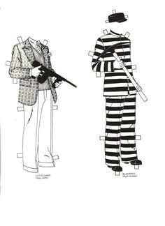 Edward G Robinson paper doll clothes
