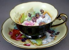 OCCUPIED JAPAN Tea Cup and Saucer / Hand Painted   D660