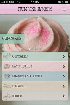 Primrose Bakery © Random House - Mobile UI / UX Design #design, #uxdesign, #gui, #uidesign